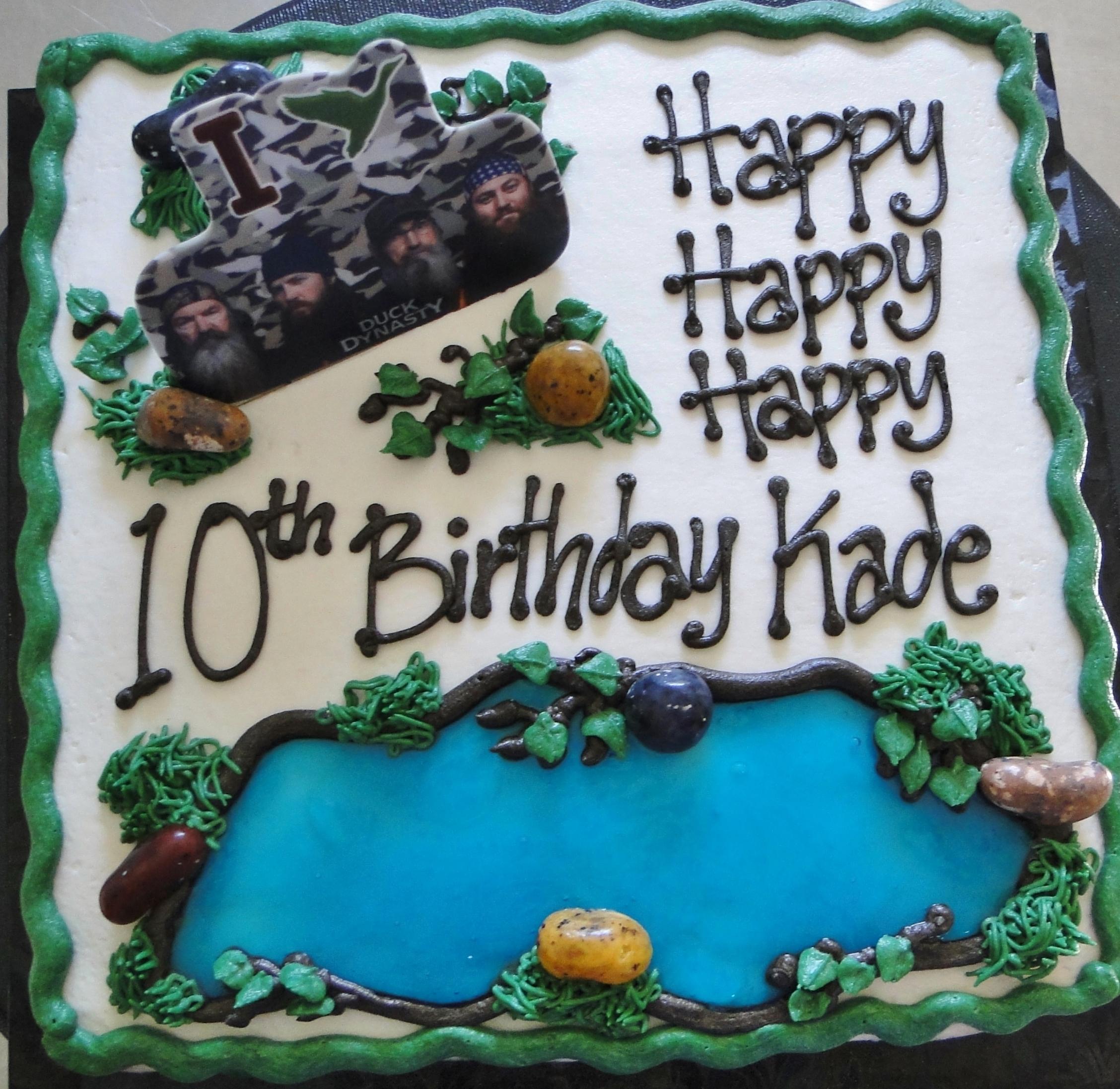 Tremendous Duck Dynasty Cake The Swirl Cakes Personalised Birthday Cards Veneteletsinfo